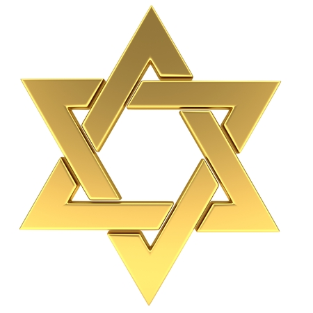 Star of David. 3D illustration Stock Photo