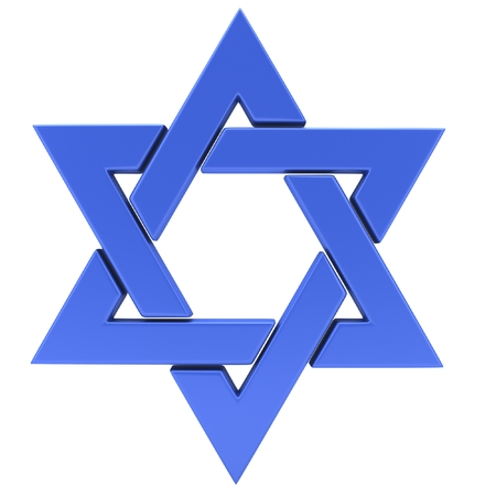 hannukah: Star of David. 3D illustration Stock Photo
