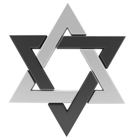 yiddish: Star of David. 3D illustration Stock Photo