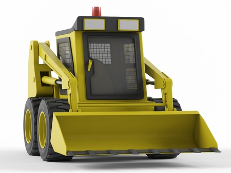 skid steer: Skid steer isolated on a white background. 3D rendering