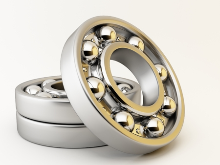 Ball bearing on white background 스톡 콘텐츠