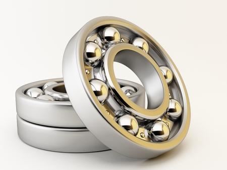 Ball bearing on white background Stok Fotoğraf