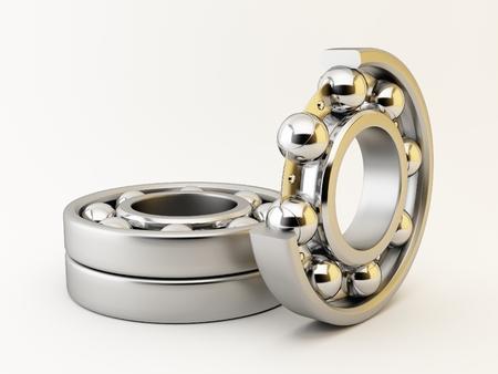ball bearing: Ball bearing on white background Stock Photo