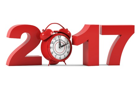 17 20: 2017. New Year. 3D rendering