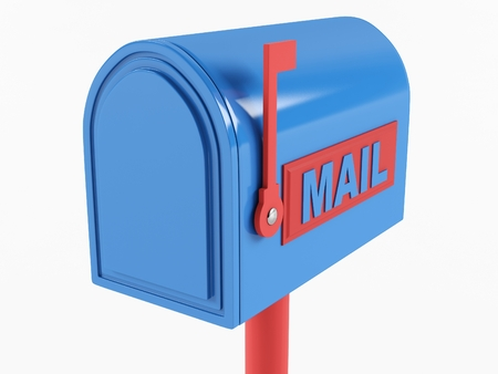Mailbox on a white background. 3D illustration