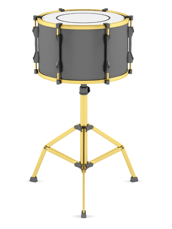 Drum on a white background. 3D illustration Stock Photo