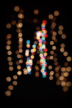 Vintage Color Bokeh Background. Defocused Abstract Soft Lights. Blurred Light Design Element. Festive Unfocused Backdrop. Elegant Toned Retro Image Foto de archivo - 110470543