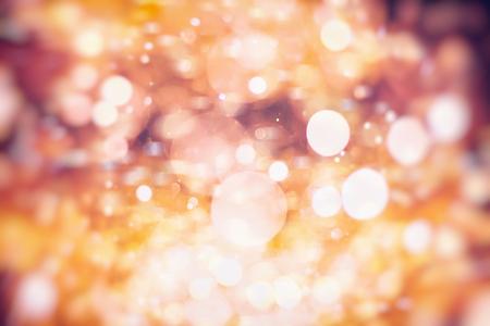 Vintage Color Bokeh Background. Defocused Abstract Soft Lights. Blurred Light Design Element. Festive Unfocused Backdrop. Elegant Toned Retro Image Foto de archivo - 110468246