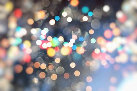 Vintage Color Bokeh Background. Defocused Abstract Soft Lights. Blurred Light Design Element. Festive Unfocused Backdrop. Elegant Toned Retro Image Foto de archivo - 110471223