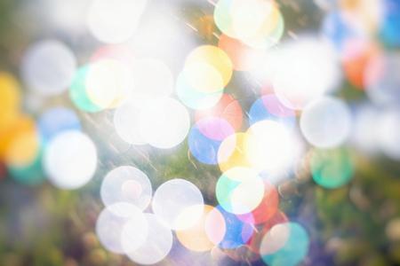 Vintage Color Bokeh Background. Defocused Abstract Soft Lights. Blurred Light Design Element. Festive Unfocused Backdrop. Elegant Toned Retro Image Foto de archivo - 110472600