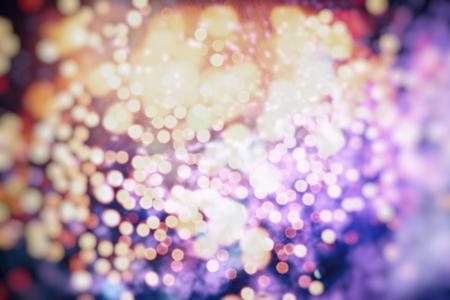 Vintage Color Bokeh Background. Defocused Abstract Soft Lights. Blurred Light Design Element. Festive Unfocused Backdrop. Elegant Toned Retro Image Foto de archivo - 110473142