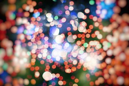 Vintage Color Bokeh Background. Defocused Abstract Soft Lights. Blurred Light Design Element. Festive Unfocused Backdrop. Elegant Toned Retro Image Foto de archivo - 110470205