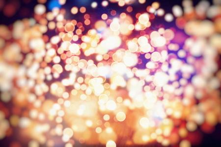 Vintage Color Bokeh Background. Defocused Abstract Soft Lights. Blurred Light Design Element. Festive Unfocused Backdrop. Elegant Toned Retro Image Foto de archivo - 110470117