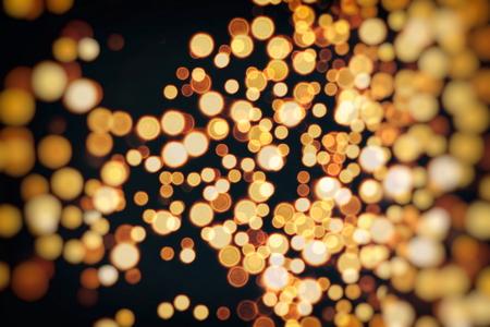 Vintage Color Bokeh Background. Defocused Abstract Soft Lights. Blurred Light Design Element. Festive Unfocused Backdrop. Elegant Toned Retro Image Foto de archivo - 110468395