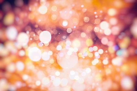 Vintage Color Bokeh Background. Defocused Abstract Soft Lights. Blurred Light Design Element. Festive Unfocused Backdrop. Elegant Toned Retro Image Foto de archivo - 110470121