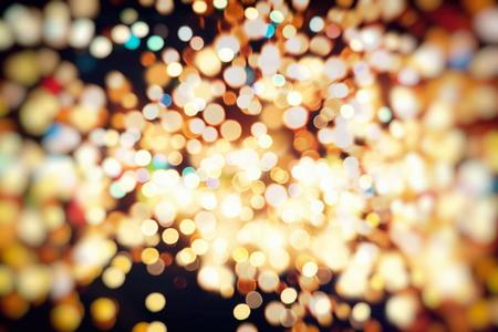 Vintage Color Bokeh Background. Defocused Abstract Soft Lights. Blurred Light Design Element. Festive Unfocused Backdrop. Elegant Toned Retro Image Foto de archivo - 110470207