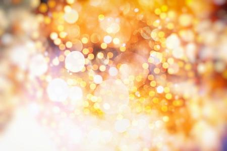 Golden Lights. Vintage Magic Background With Color