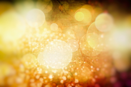 Golden Lights. Vintage Magic Background With Color