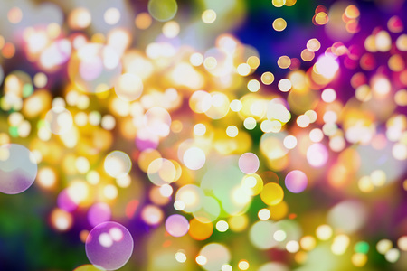 tinsel: Colored Abstract Blurred Light Background Stock Photo