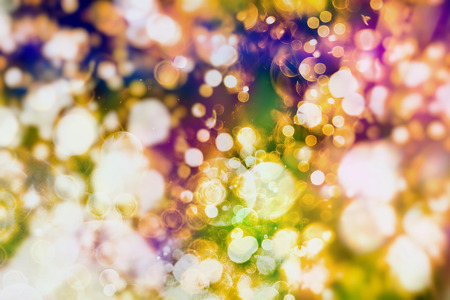 Colorful circles of light abstract background Stock Photo