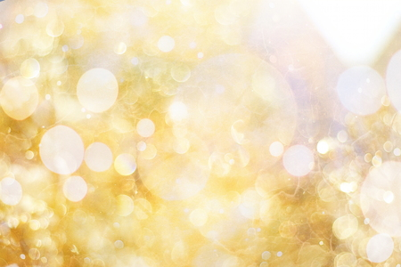 copyspace: Festive background with natural bokeh and bright golden lights. Vintage Magic background with colorful bokeh Stock Photo
