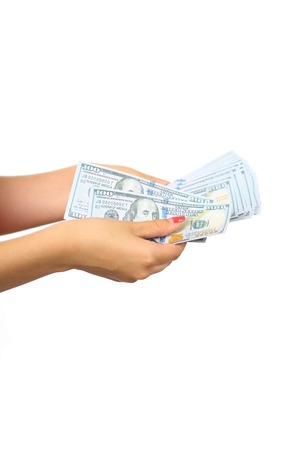 counting money: counting money, economy concept, allocation of money