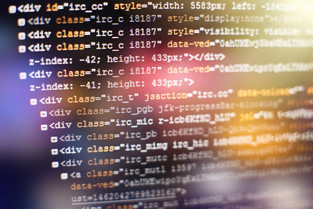 html web design code for developers and designers Zdjęcie Seryjne - 61522177