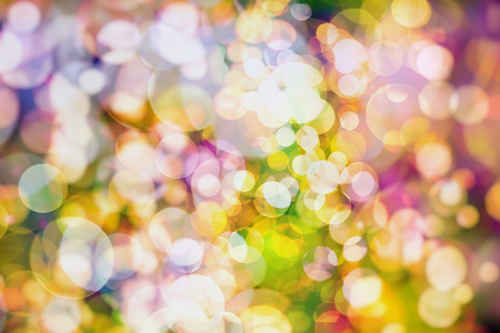 special effect: Colorful circles of light abstract background Stock Photo