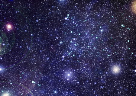 Beautiful space background with stardust and stars.