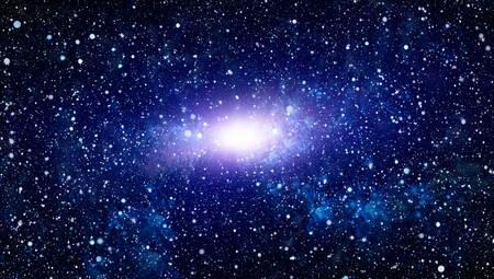 lejos: Beautiful space background with stardust and stars. Deep far space, cosmic glowing colors. Milky way conceptual background. Constellations and star dust background.