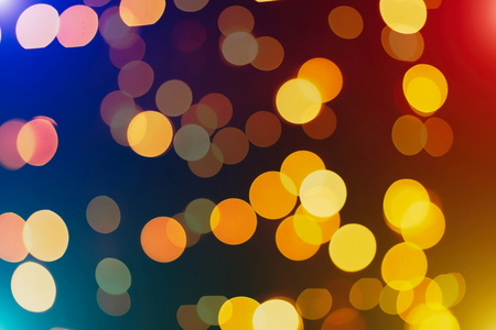 Save Download image for preview Festive Background With Natural Bokeh And Bright Golden Lights. Vintage Magic Background With Color