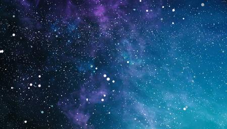 カラフルな星空の夜空宇宙背景 写真素材
