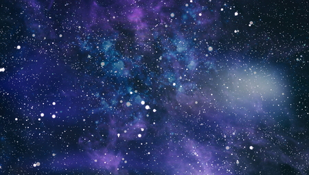 Colorful Starry Night Sky Outer Space background Фото со стока