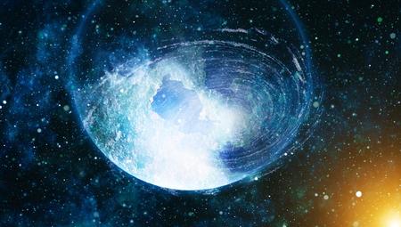 lejos: Fondo de la textura del espacio exterior estrellada