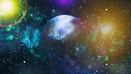 Starry outer space Stock Photo