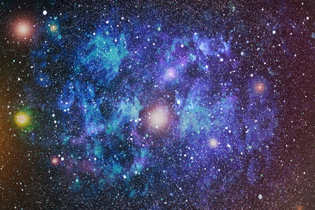 Colorful Starry Night Sky Outer Space background Imagens - 73062102