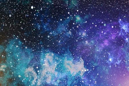 화려한 별이 빛나는 밤 하늘 바깥 쪽 배경
