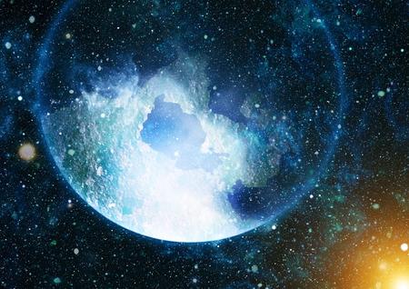 Cielo estrellado colorido de la noche Fondo del espacio