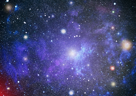 big bang: Panoramic looking into deep space. Dark night sky full of stars. The nebula in outer space. Stock Photo