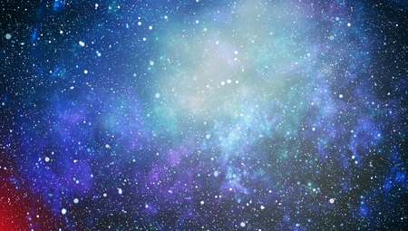 Panoramic looking into deep space. Dark night sky full of stars. The nebula in outer space. Standard-Bild