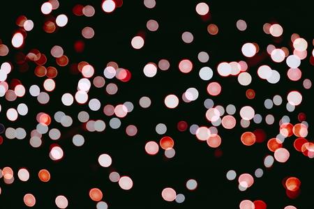 Christmas wallpaper decorations concept.xmas holiday festival backdrop: sparkle circle lit celebrations display. Archivio Fotografico