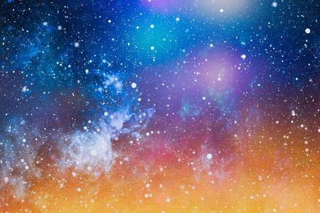 Fondo de alta definición del campo de estrella. Textura estrellada del fondo del espacio exterior. Cielo estrellado colorido de la noche Fondo del espacio