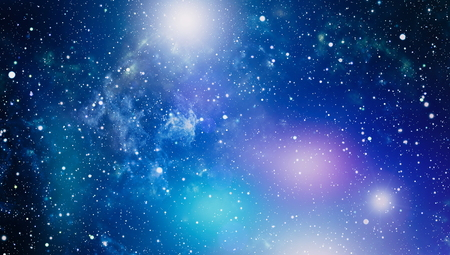 Colorful Starry Night Sky Outer Space background Imagens