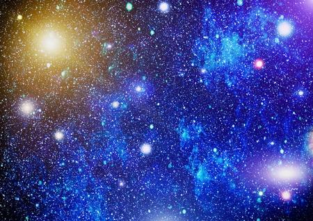 カラフルな星空の夜空の宇宙の背景