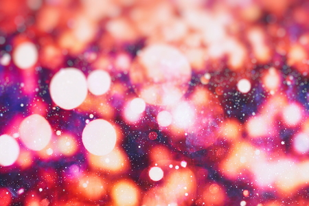 Festive Christmas background. Elegant abstract background with bokeh defocused lights and stars