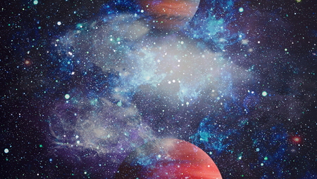 Nebula and galaxies in space. Stock Photo