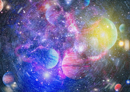 Star field in deep space many light years far from the Earth. Archivio Fotografico