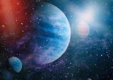 Star field in deep space many light years far from the Earth. Reklamní fotografie
