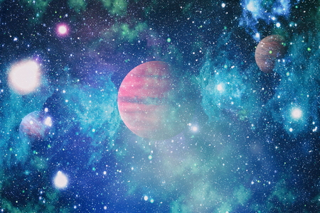 planets, stars and galaxies in outer space showing the beauty of space exploration Stock Photo