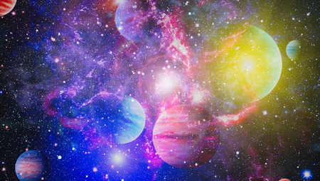 Campo estelar en el espacio profundo a muchos años luz de la Tierra Foto de archivo - 91982299
